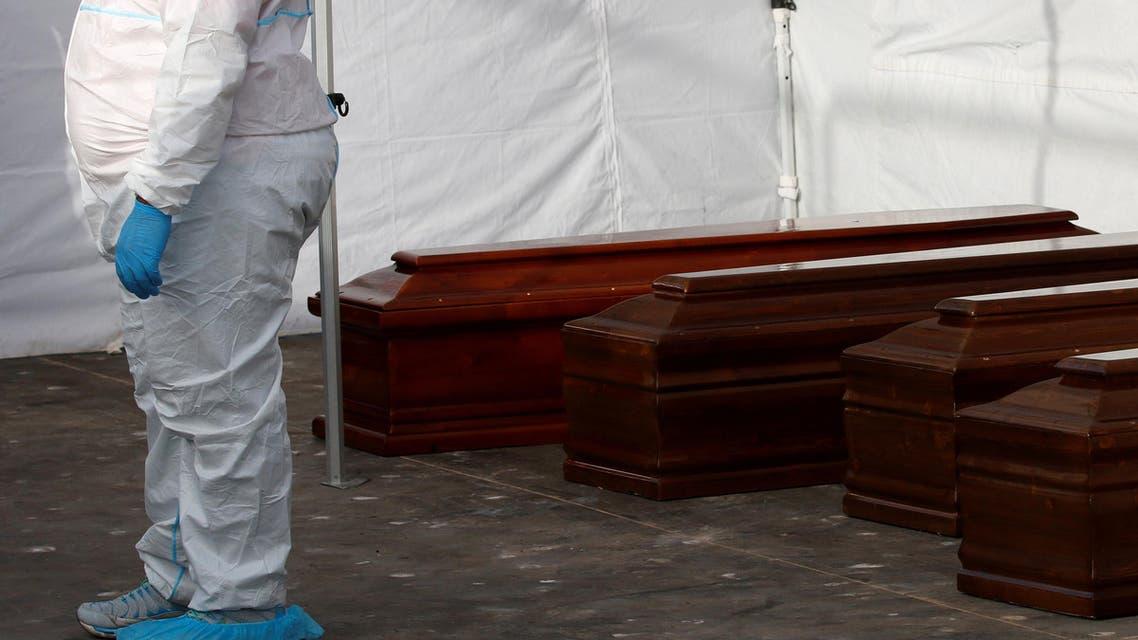 جثث مهاجرين قضوا غرقاً خلال محاولتهم الوصول لإيطاليا