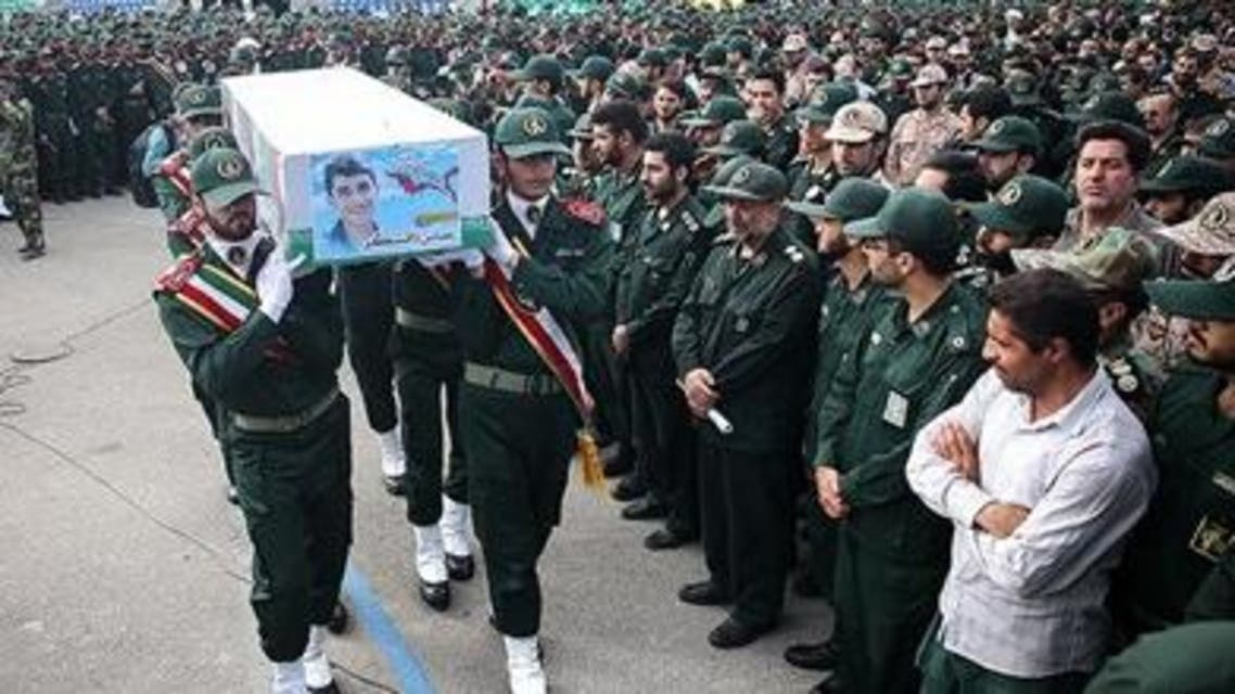 تشييع عباس دانشكر في جامعة الحسين العسكرية بطهران