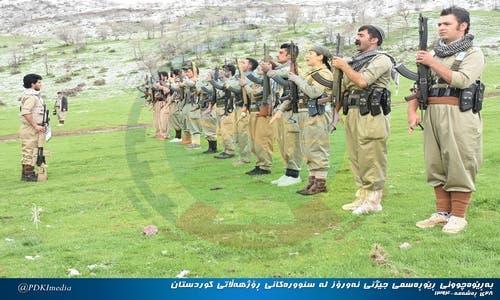 بيشمركة الحزب الديمقراطي الكردستاني الايراني في جبال قنديل