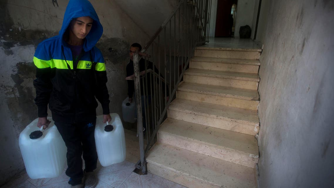 Water supplies to Palestinians have faced disruptions since the beginning of Ramadan and is causing distress. (AP)