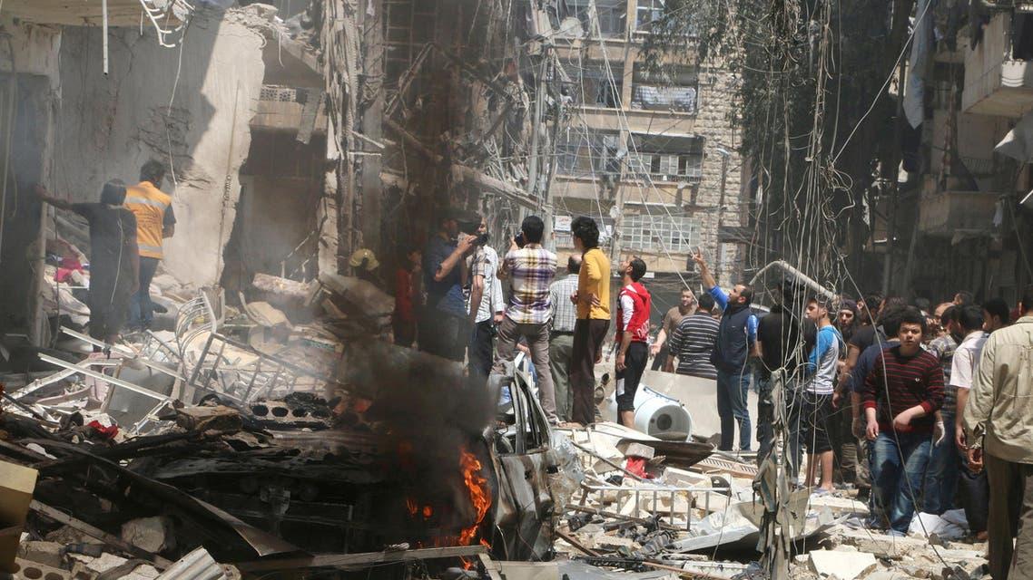 جانب من الدمار في حلب (أرشيفية)