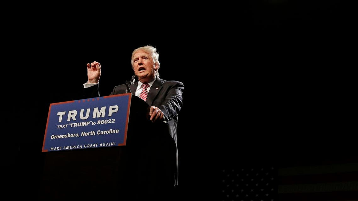 Republican presidential candidate Donald Trump speaks during a campaign rally at the Greensboro Coliseum in Greensboro, N.C., Tuesday, June 14, 2016. (AP