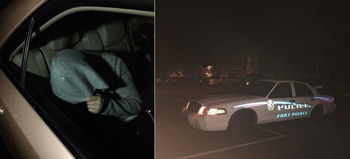 نقلتها سيارة تابعة لشرطة المدينة، حيث تقيم، فغطت رأسها تجنباً للإعلاميين، ثم لاذت بالمغادرة