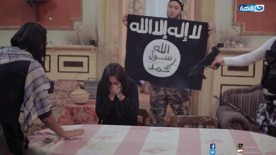 The extraordinarily cruel prank was part of Egyptian channel Al Nahar TV's show 'Mini ISIS' which involves actors dressed in militant uniforms. (Photo courtesy: Al Nahar)