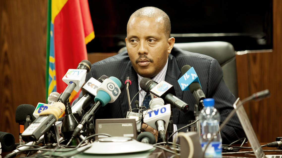 Ethiopian communication affairs minister, Getachew Reda speaks during a press conference in Addis Ababa on June 14,2016 on the issue of Ethiopian and Eritrean military clashes at Tsorona. (AFP)