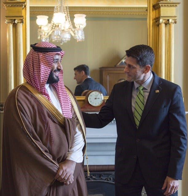 صور محمد بن سلمان مع بول راين رئيس مجلس النواب الأميركي