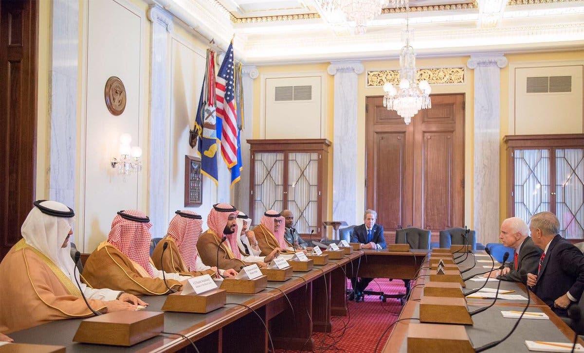 جانب من لقاءات ولي ولي العهد بالمسؤولين الأميركيين