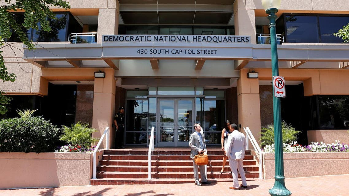 The headquarters of the Democratic National Committee is seen in Washington. (Reuters)