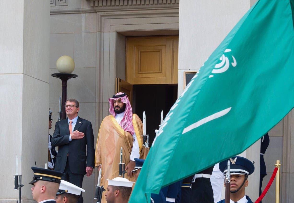 ولي ولي العهد السعودي الأمير محمد بن سلمان ووزير الدفاع الأميركي آشتون كارتر