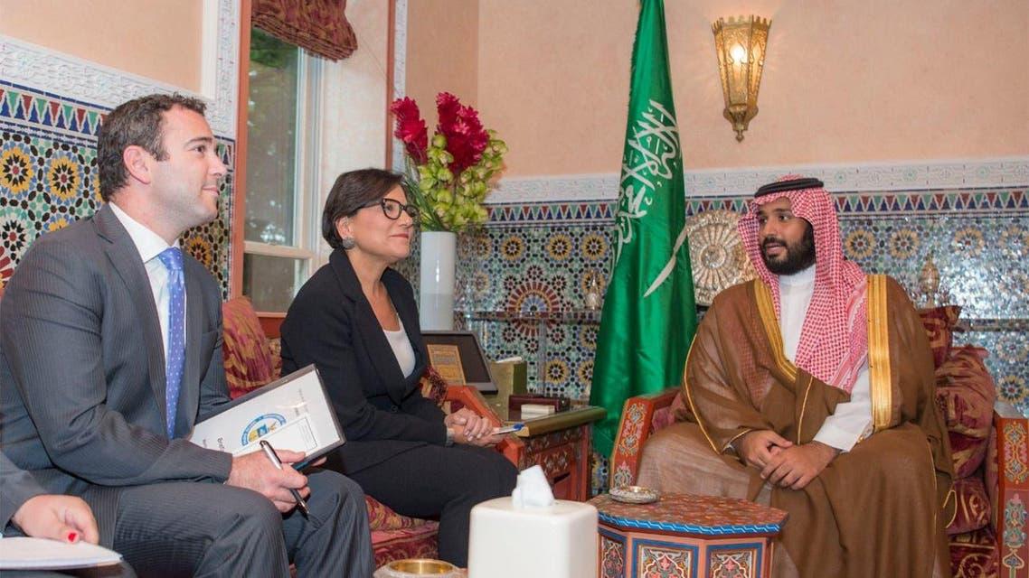 محمد بن سلمان يلتقي وزيرة التجارة الأميركية