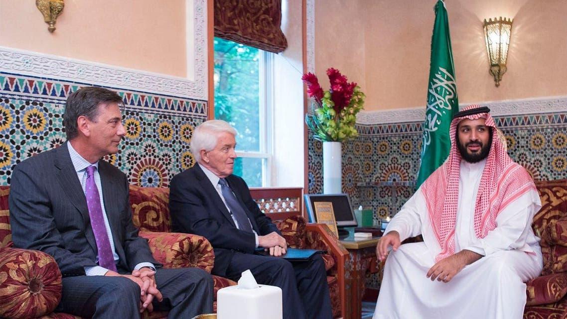 Saudi Deputy Crown Prince Mohammed bin Salman meets with US officials in Washington. (SPA)