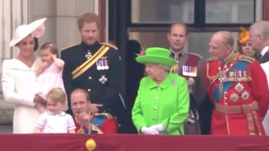 Queen tells off Prince William. (Screengrab: Youtube)