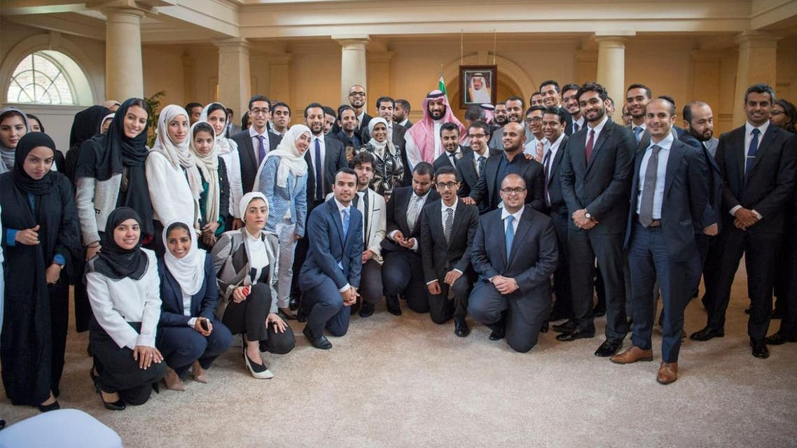 Deputy Crown Prince Receives Distinguished Saudis, Studying in US Universities. (SPA)