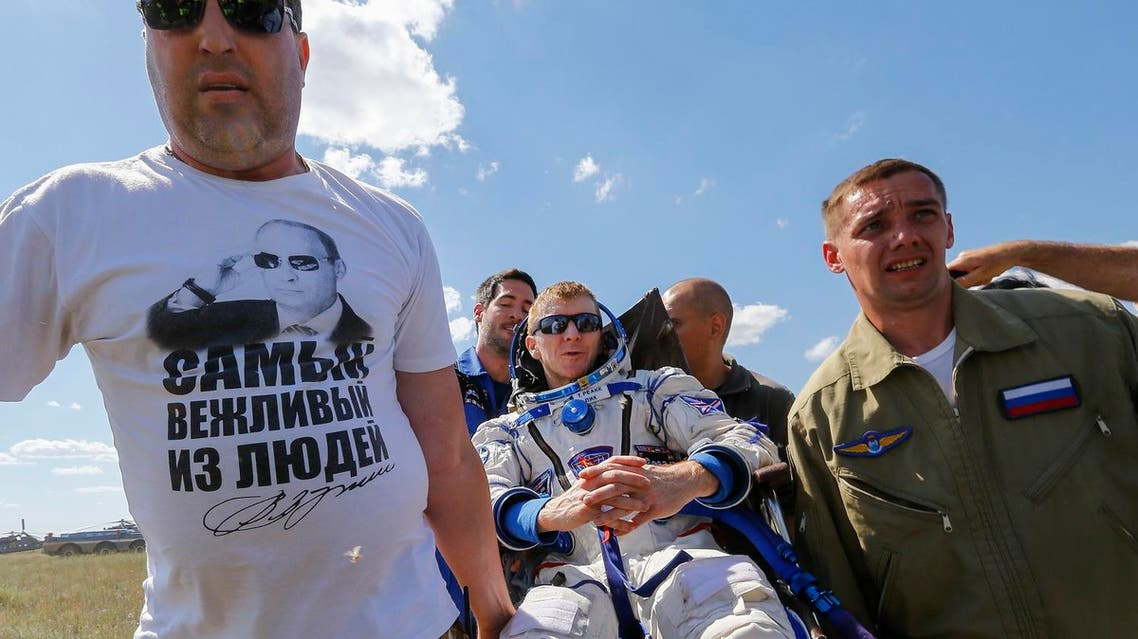 British astronaut Tim Peake touches down in Kazakhstan after six-month mission