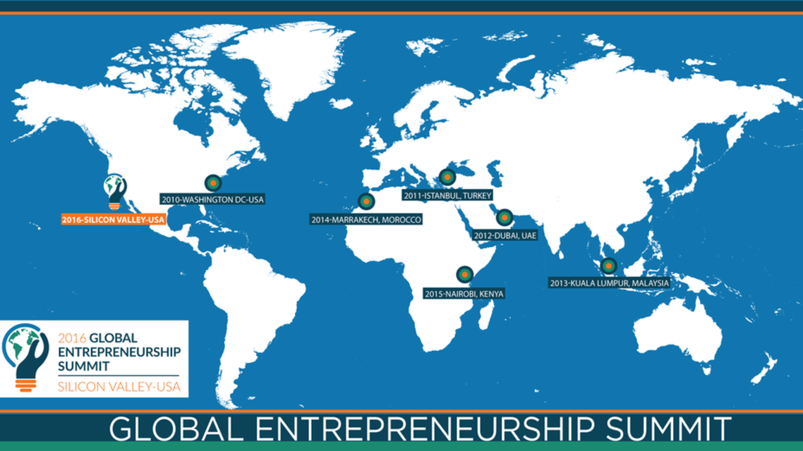 The Global Entrepreneurship Summit 2016 (GES-2016) will be the 7th installment in a series previously hosted by the United States and the governments of Turkey, the United Arab Emirates, Malaysia, Morocco, and Kenya.