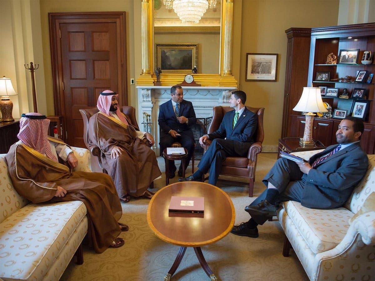 جانب من مشاورات الأمير محمد بن سلمان مع المسؤولين الأميركيين