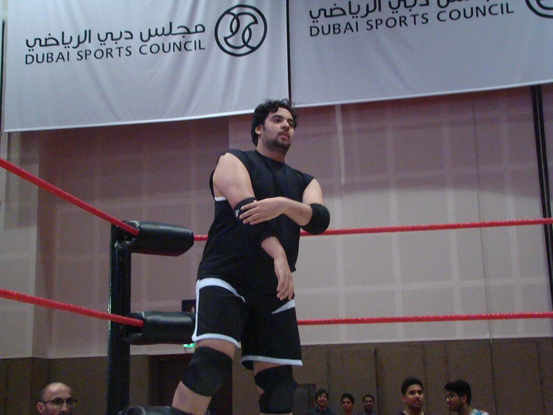 Fayez al Emarat gets ready. (Tarek Ali Ahmad, Al Arabiya English)