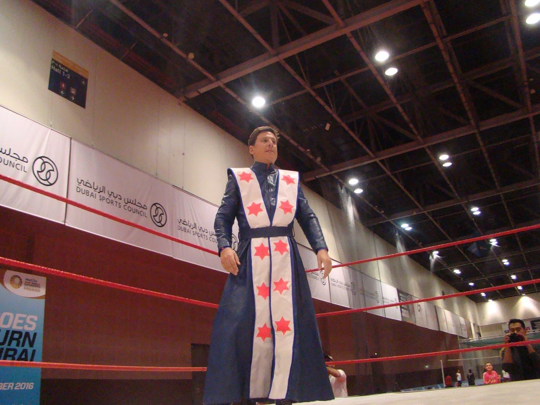 Lord Socrates gets ready to rumble. (Tarek Ali Ahmad, Al Arabiya English)