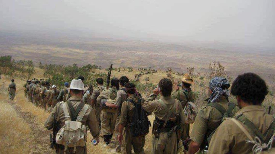مقاتلون من الحزب الديمقراطي الكردستاني الايراني حدكا