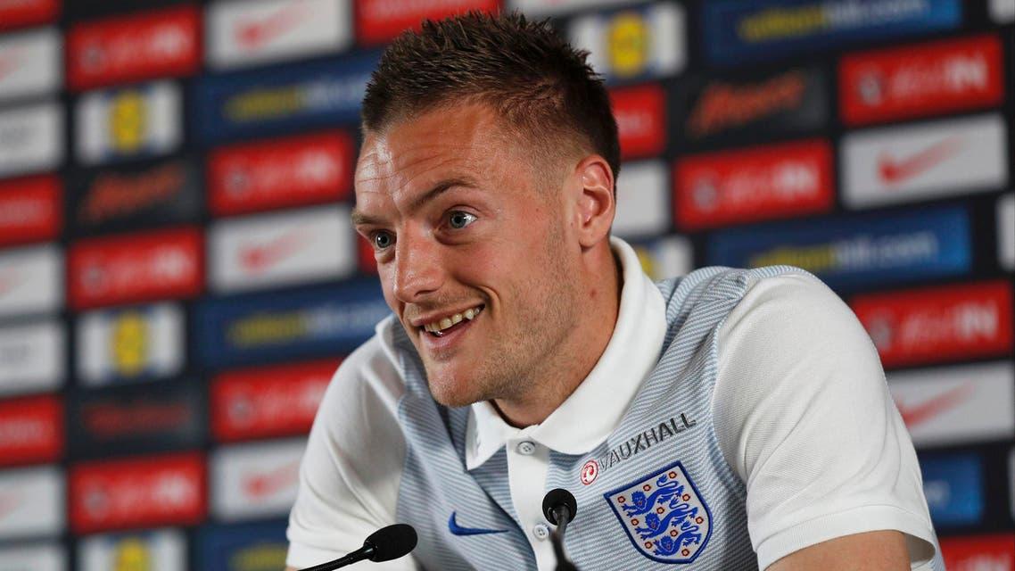 England's Jamie Vardy during news conference, England Slovakia Euro 2016 (Reuters)