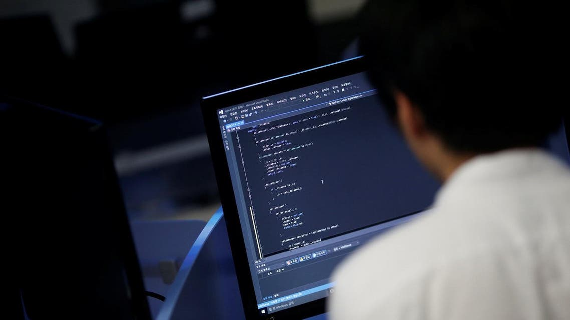A student, who requested to be known only by surname Noh and his face not to be photographed due to security reasons, sits in front of a computer while demonstrating softwares during an interview with Reuters at War Room at The Korea University in Seoul, South Korea, June 16, 2016. REUTERS