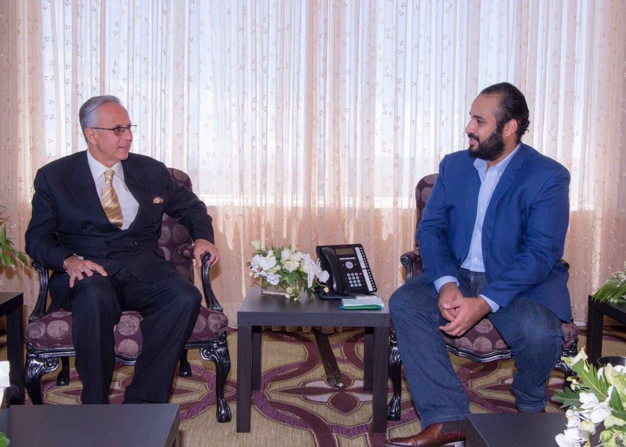 لقاء الأمير محمد بن سلمان ولي ولي العهد بمجموعة six flags سكس فلاقز