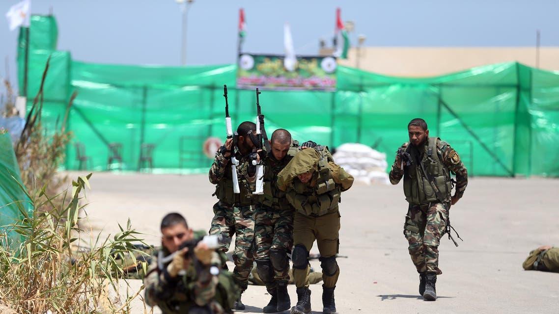 عناصر من حماس خلال تدريب في غزة - فرانس برس
