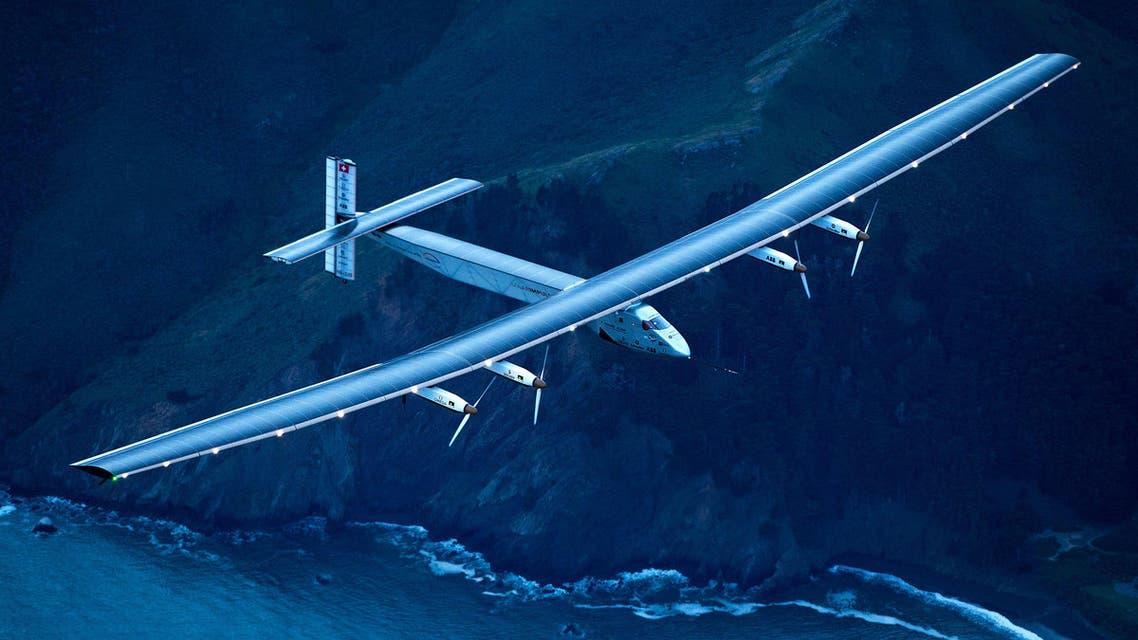 Solar Impulse 2 flies over San Francisco, Saturday, April 23, 2016. ap