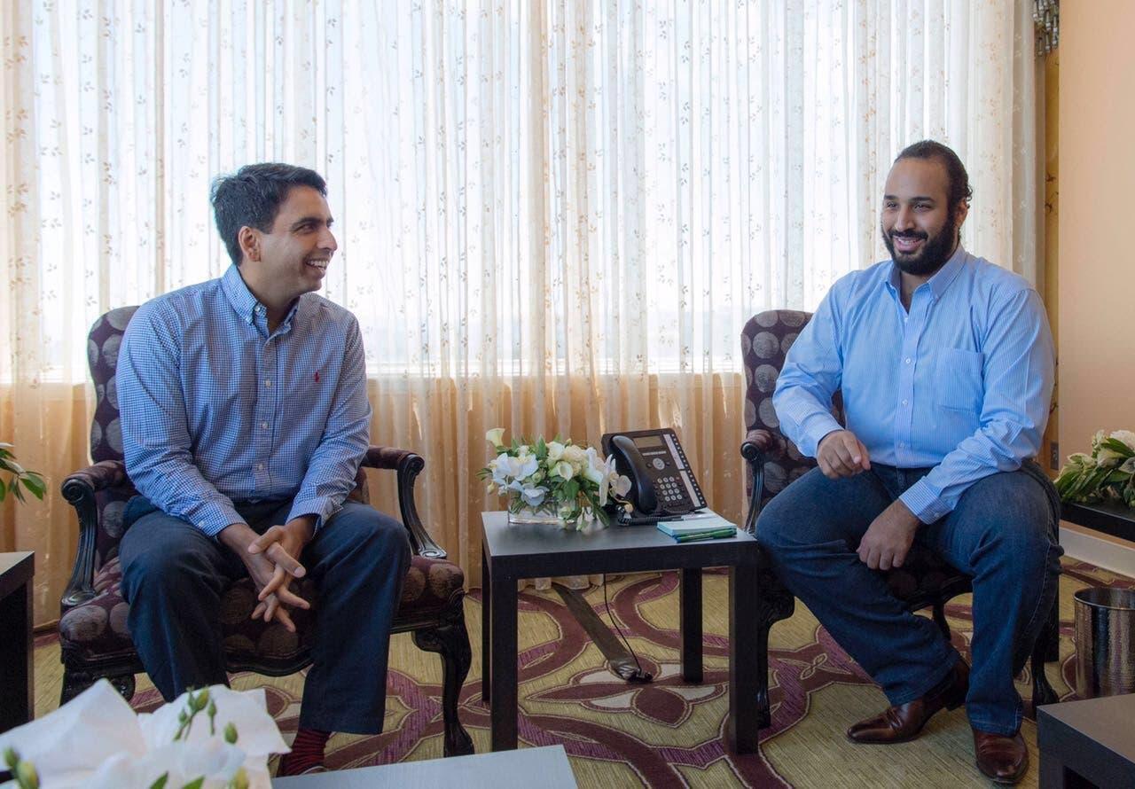 الأمير محمد بن سلمان يجتمع برئيس أكاديمية خان ويبحثان الشراكة الأكاديمية بين مؤسسة مسك الخيريةوالأكاديمية