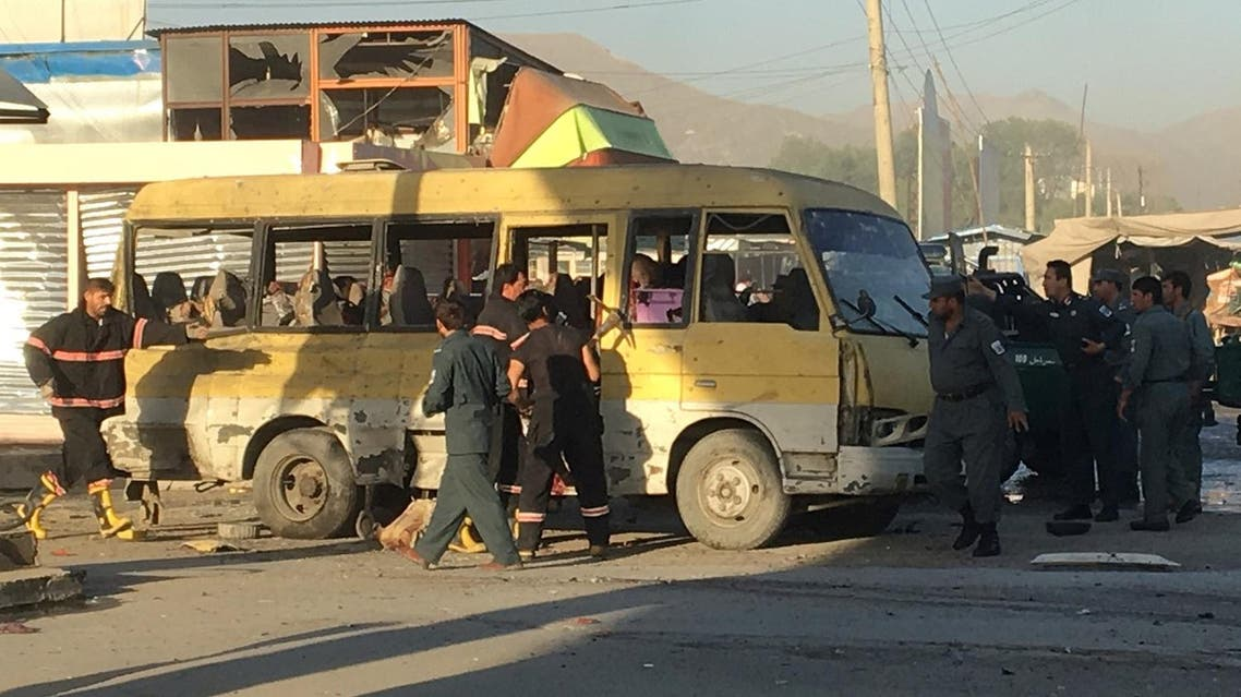 kabul minibus attack reuters