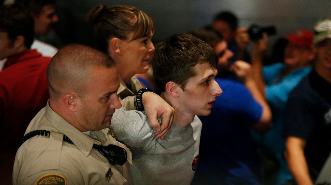Sandford, a British man accused of trying to take a police officer's gun and kill Donald Trump during a weekend rally in Las Vegas, will not be released on bail. (AP)