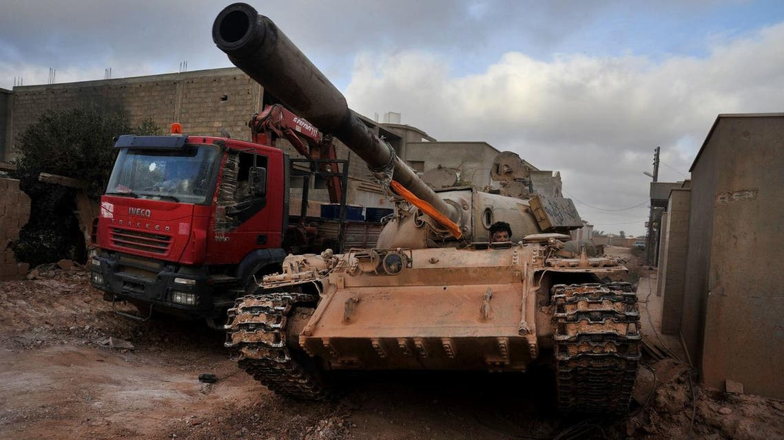 A file photo of tank being used by Libyan armed forces (Photo: AP)