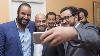 Deputy Crown Prince takes a selfie with Saudis in US