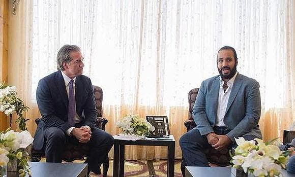 Mohammed bin salman meeting with SeaWorld CEO