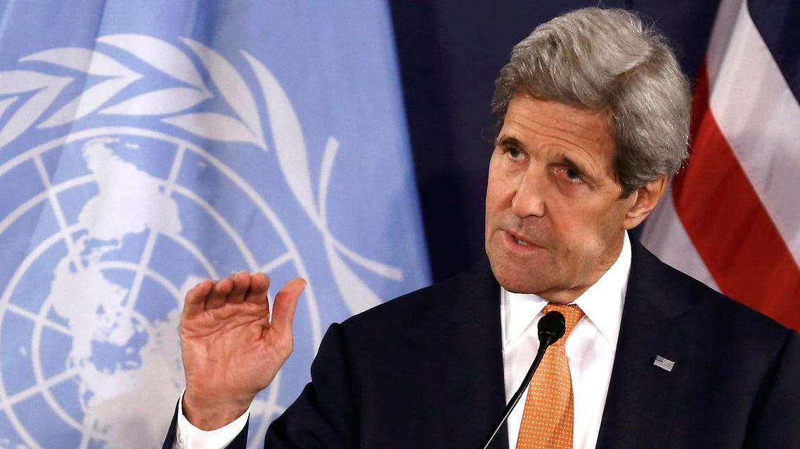 Kerry talks with us diplomats who urged Syria strikes (AP)