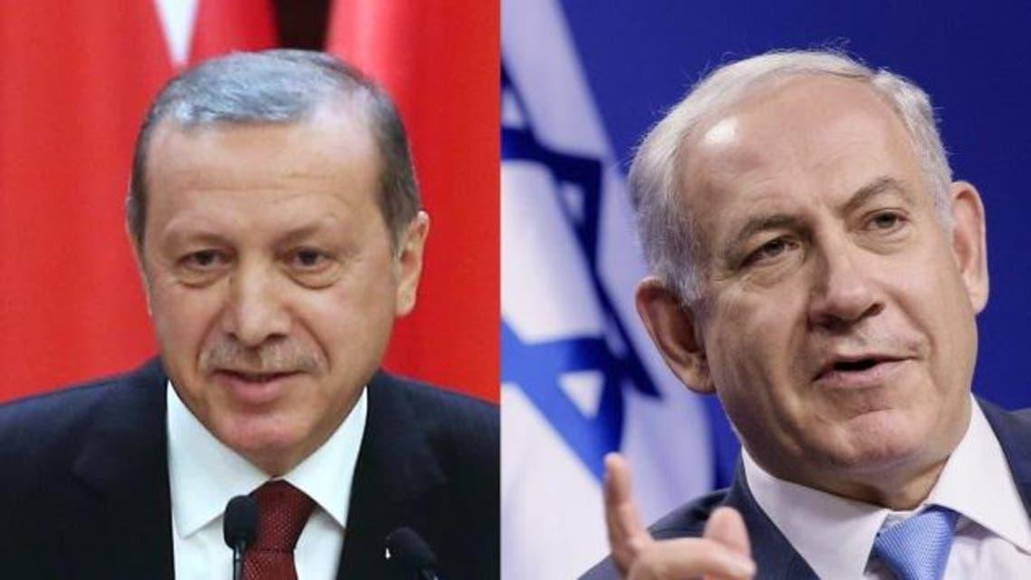 Turkish President Recep Tayyip Erdogan (L) and Israeli Prime Minister Benjamin Netanyahu (R)