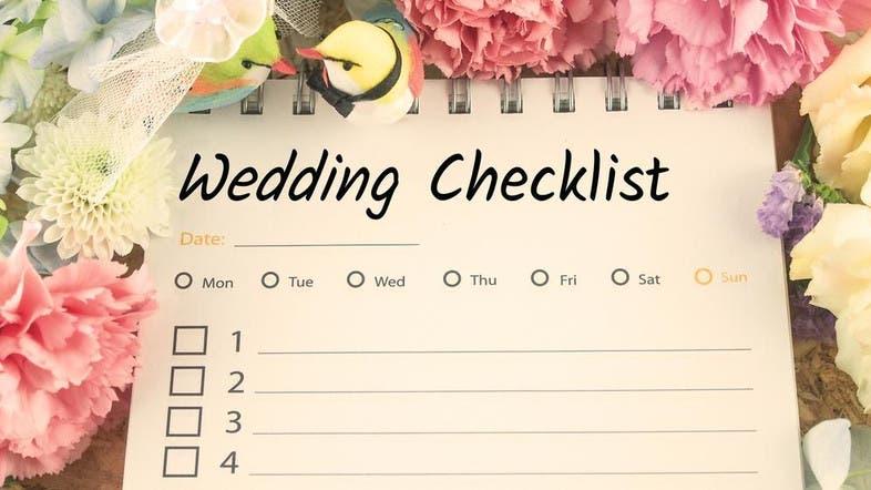 wedding planning here s your checklist for the big day al arabiya