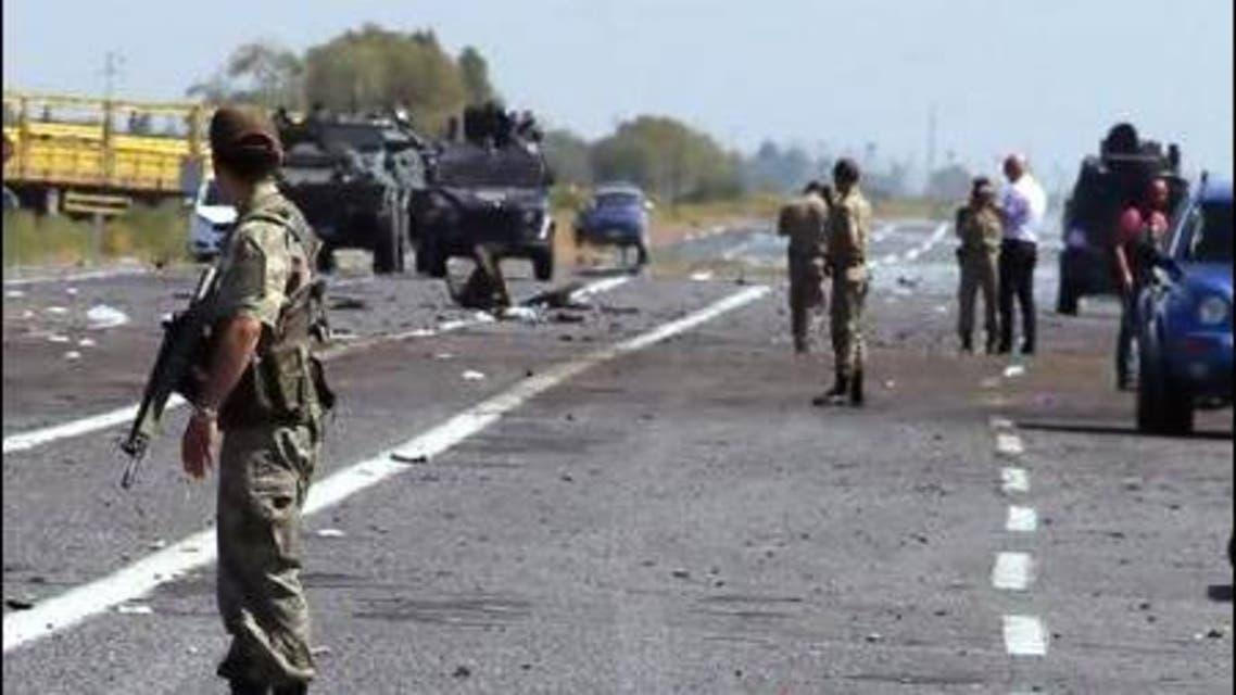 PKK roadside bomb targets Turkish army in Igdir, in the Kurdish region in eastern Turkey. Photo: AP