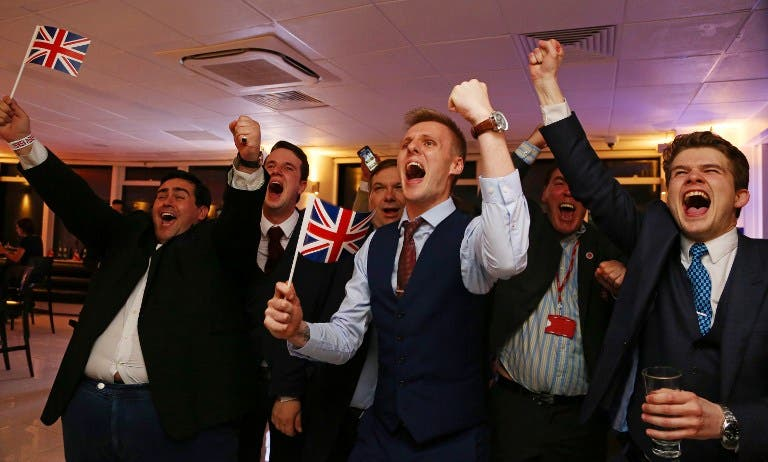 Tears of joy and sorrow: Britain votes to leave EU