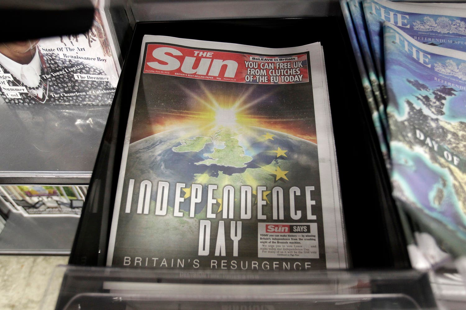 The Sun newspaper's front page (Photo: AP)