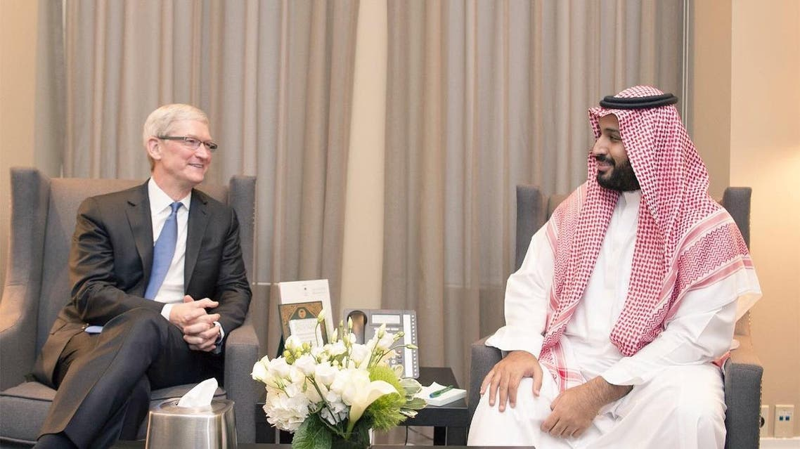محمد بن سلمان و تيم كوك