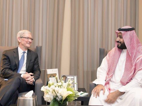 """الأمير محمد بن سلمان يلتقي رئيس شركة """"آبل"""""""