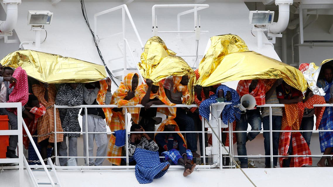 انقاذ هجرة لجوء مهاجرون لاجئون إيطاليا