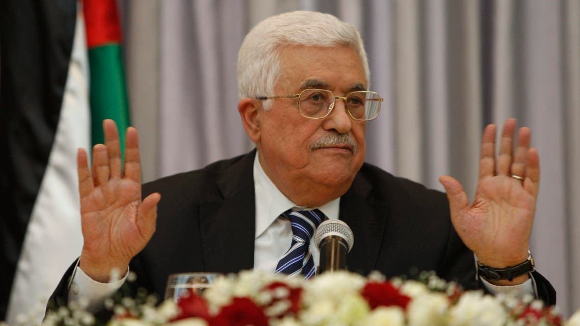 In this Jan. 6, 2016 file photo, Palestinian President Mahmoud Abbas, also known as Abu Mazen, gestures as he speaks during a press conference, in the West Bank city of Bethlehem. AP