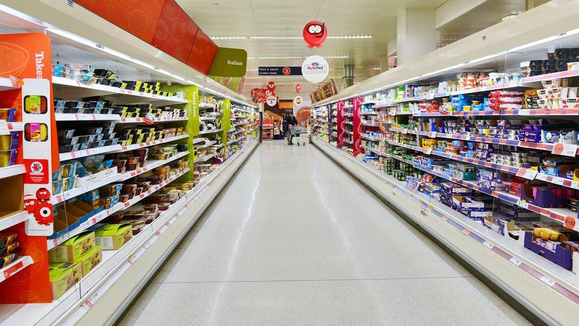 File photo of food aisle In  sainsbury supermarket,  UK. (shutterstock)