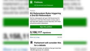 أكثر من 3 ملايين بريطاني يطالبون بإعادة الاستفتاء
