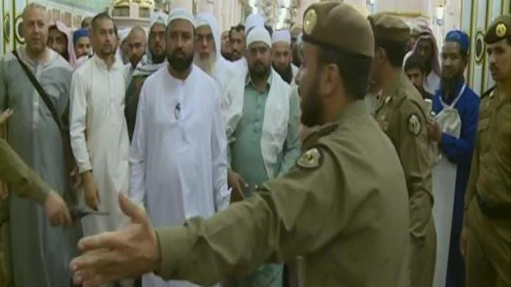 مسجد نبوی : مواجہہ شریف پر زائرین کے نظم و نسق کا انتظام