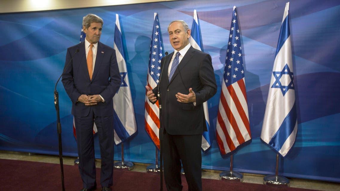 Israeli Prime Minister Benjamin Netanyahu (R) and U.S. Secretary of State John Kerry brief the media before their meeting at Prime Minister's Office in Jerusalem November 24, 2015. (Reuters)