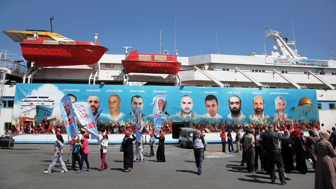 Pro-Palestinian Turks gather on the fourth anniversary of the Mavi Marmara ship, the lead boat of a flotilla headed to the Gaza Strip which was stormed by Israeli naval commandos in a predawn confrontation in the Mediterranean, May 31, 2010, in Istanbul, Turkey (File Photo: AP)