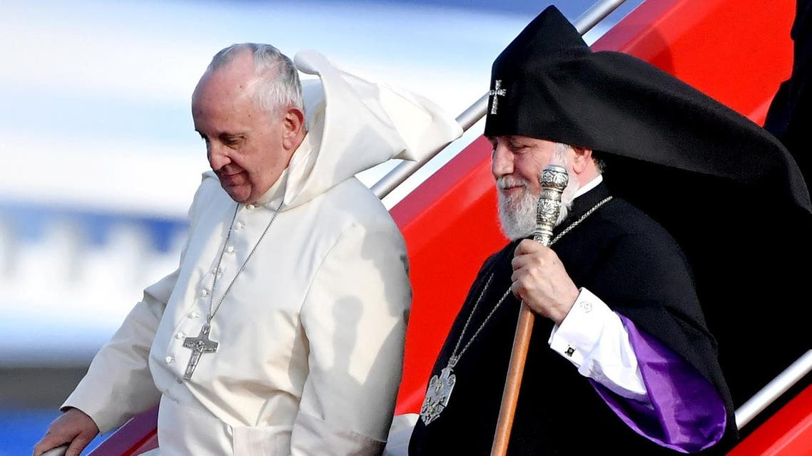 Turkey accused Francis of adopting a 'Crusades'-like mentality by terming the 1915 killings a 'genocide' during his three-day visit to Armenia. (AFP)